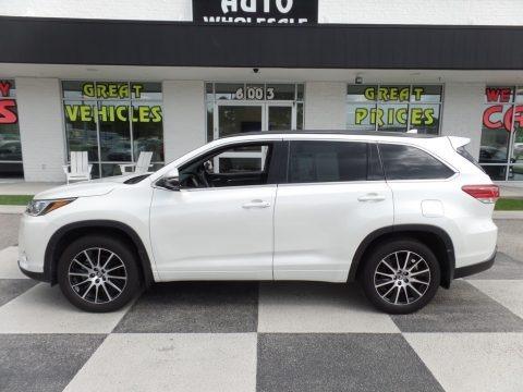 Blizzard White Pearl 2018 Toyota Highlander SE AWD