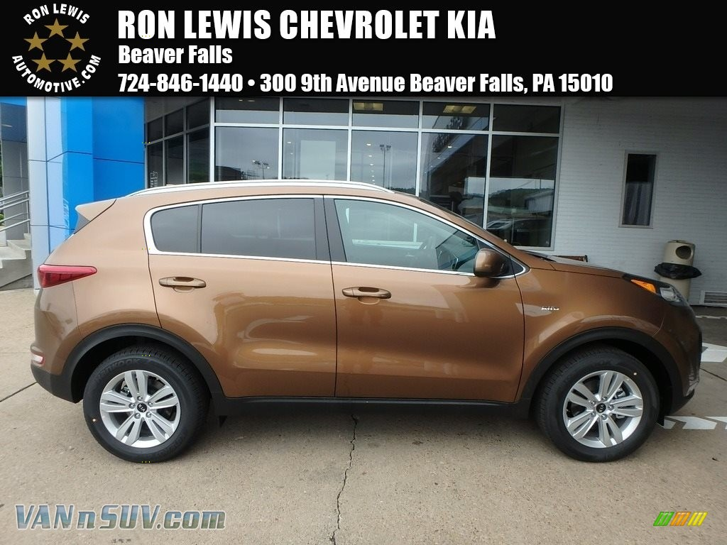 2018 Sportage LX AWD - Burnished Copper / Black photo #1