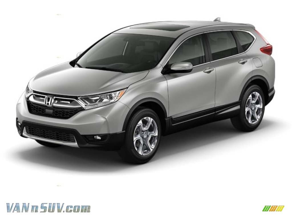 2018 CR-V EX-L - Lunar Silver Metallic / Black photo #39