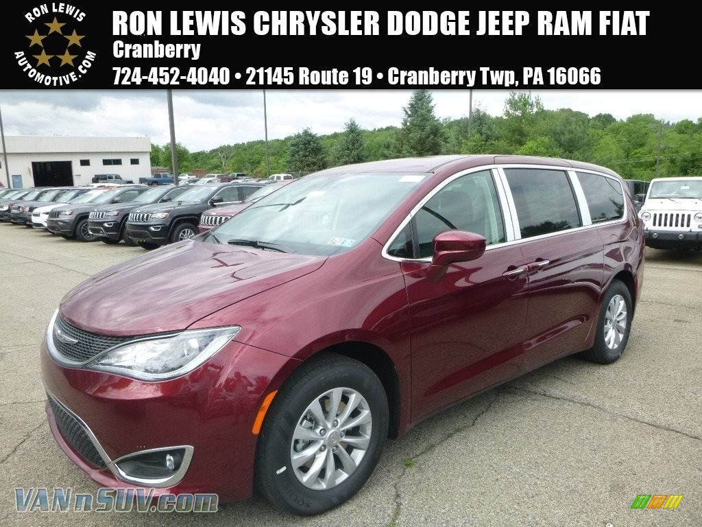 Velvet Red Pearl / Black/Alloy Chrysler Pacifica Touring Plus