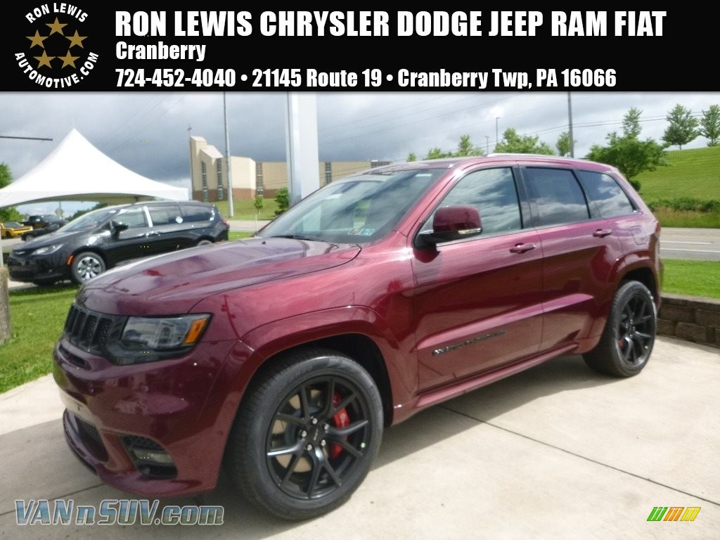 Velvet Red Pearl / Black Jeep Grand Cherokee SRT 4x4