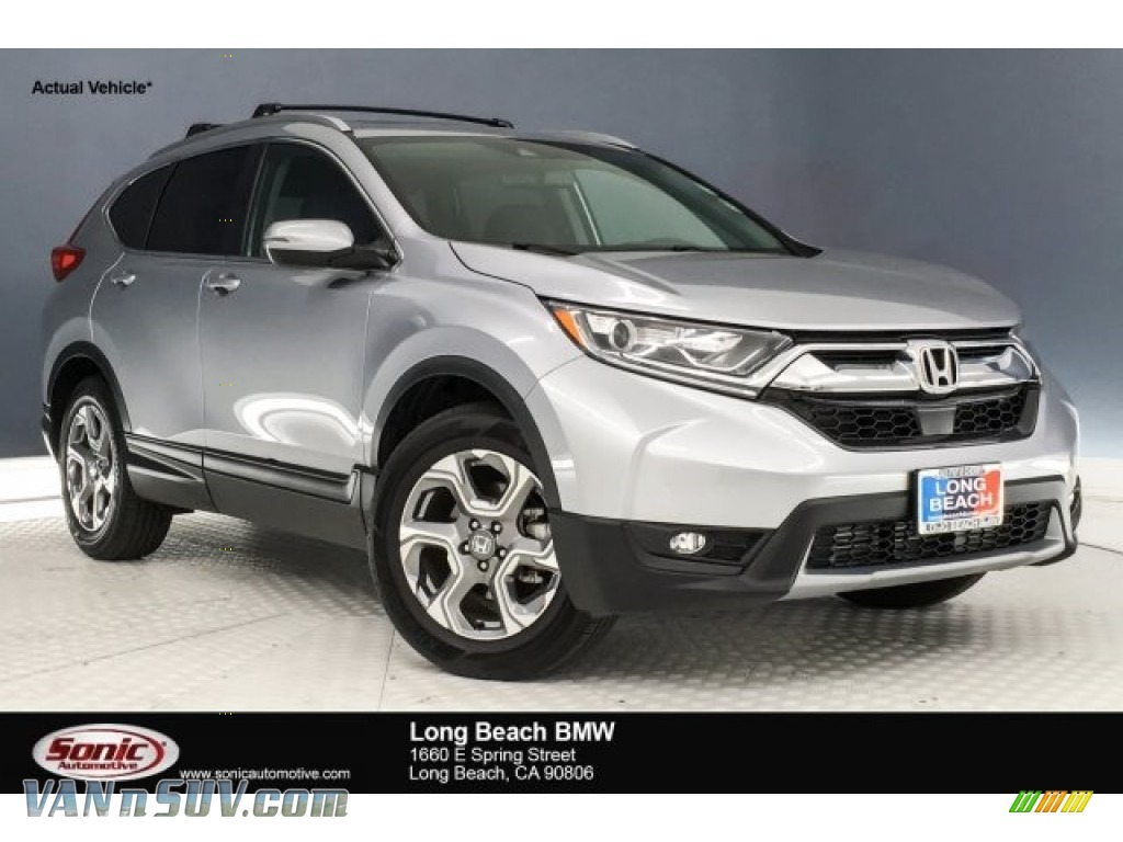 2017 CR-V EX-L - Lunar Silver Metallic / Black photo #1