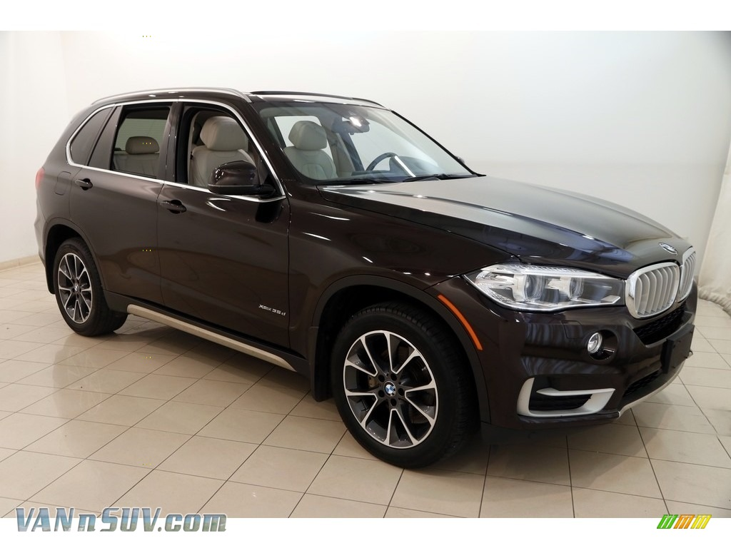 2015 X5 xDrive35d - Sparkling Brown Metallic / Ivory White photo #1