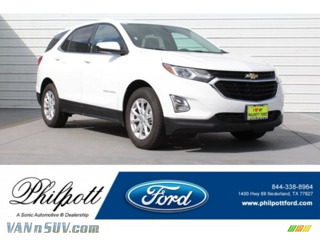 Summit White / Jet Black Chevrolet Equinox LT