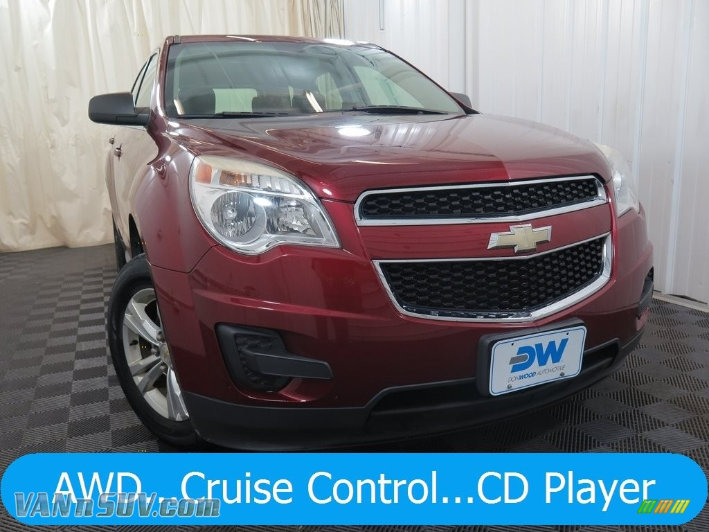 Cardinal Red Metallic / Jet Black/Light Titanium Chevrolet Equinox LS AWD