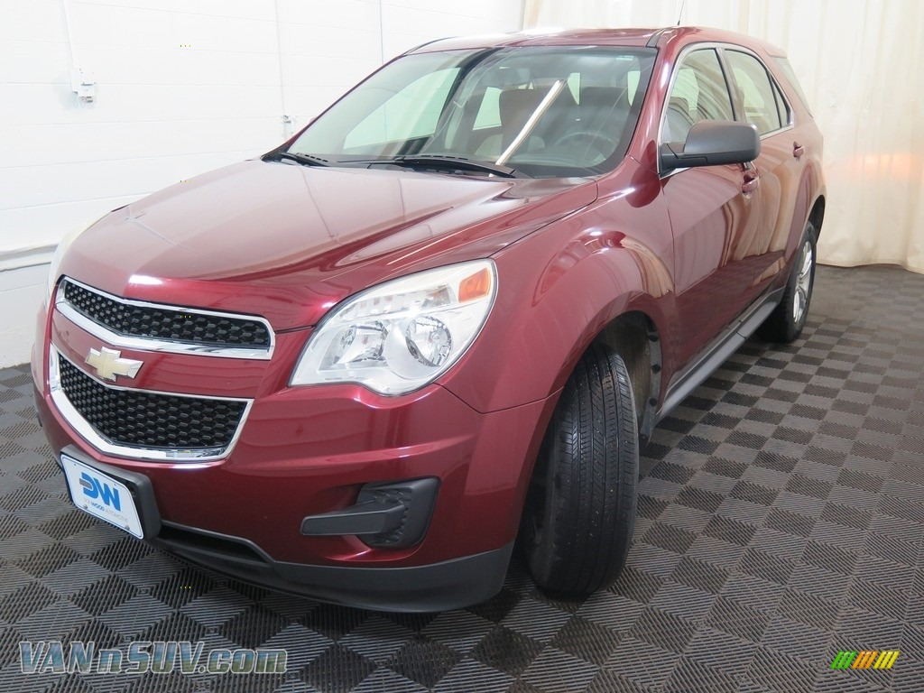2010 Equinox LS AWD - Cardinal Red Metallic / Jet Black/Light Titanium photo #6