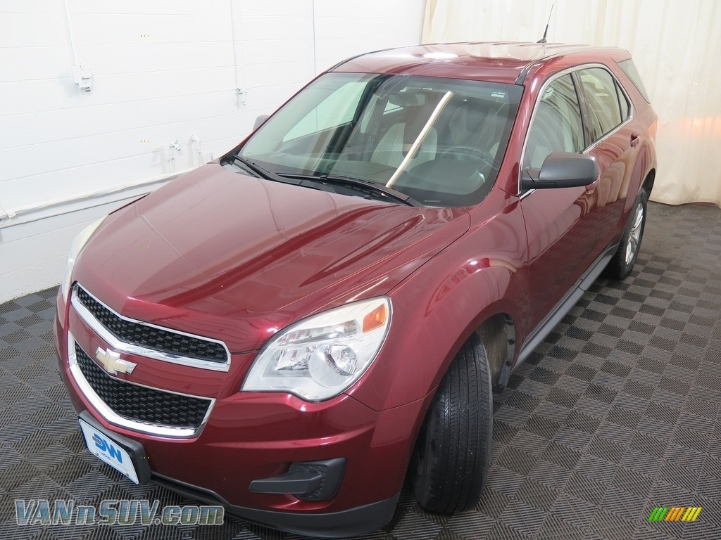 2010 Equinox LS AWD - Cardinal Red Metallic / Jet Black/Light Titanium photo #7