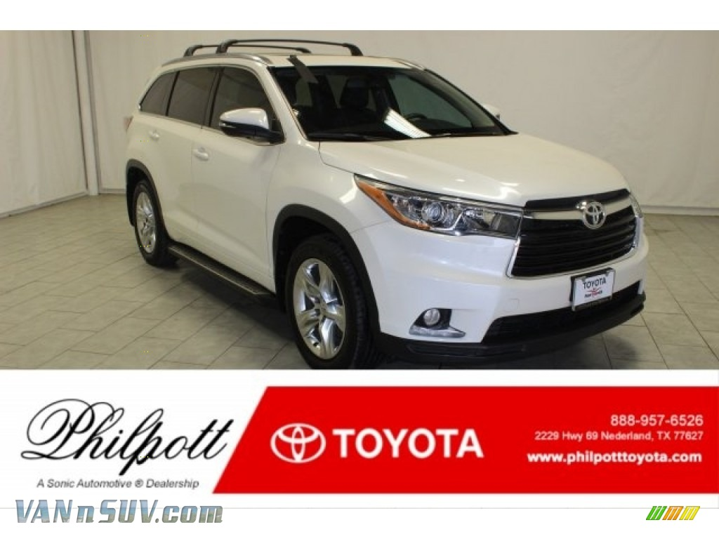 2015 Highlander Limited - Blizzard Pearl White / Black photo #1