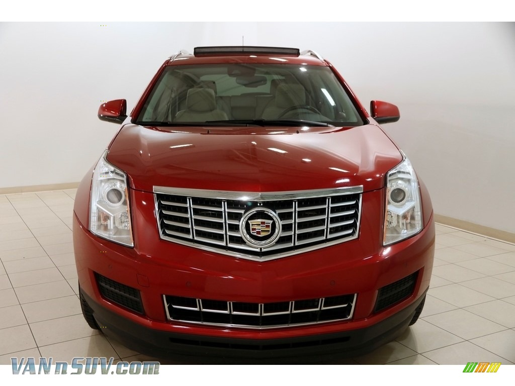 2014 SRX Luxury - Crystal Red Tintcoat / Shale/Brownstone photo #2