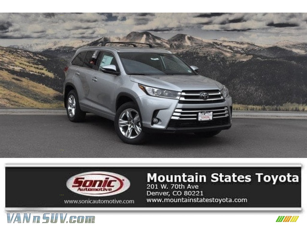 2018 Highlander Limited AWD - Celestial Silver Metallic / Black photo #1