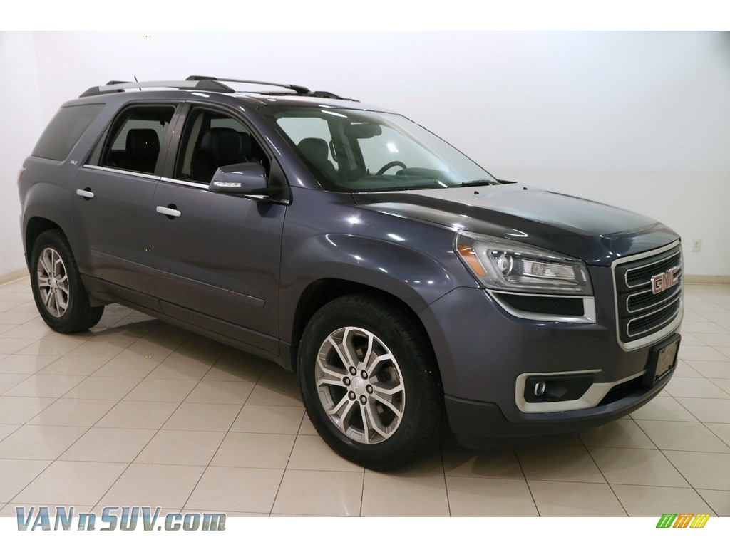 2014 Acadia SLT AWD - Atlantis Blue Metallic / Ebony photo #1