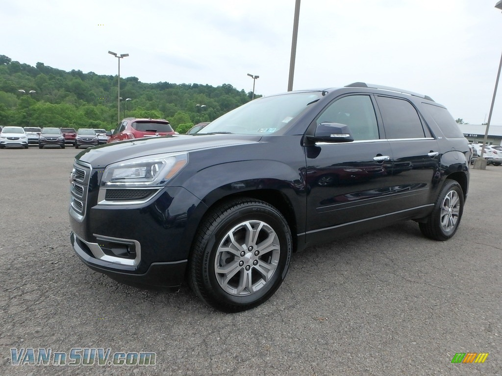 2015 Acadia SLT AWD - Dark Sapphire Blue Metallic / Light Titanium photo #1