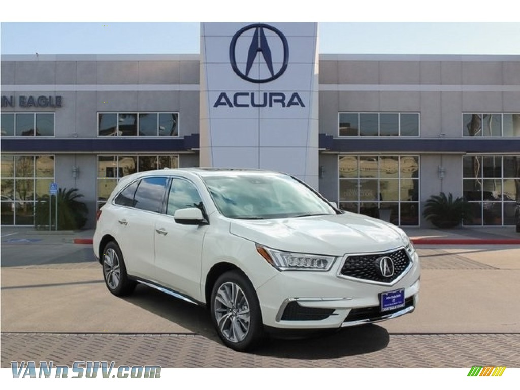 2018 MDX Technology SH-AWD - White Diamond Pearl / Espresso photo #1