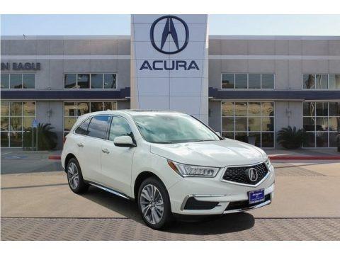 White Diamond Pearl 2018 Acura MDX Technology SH-AWD