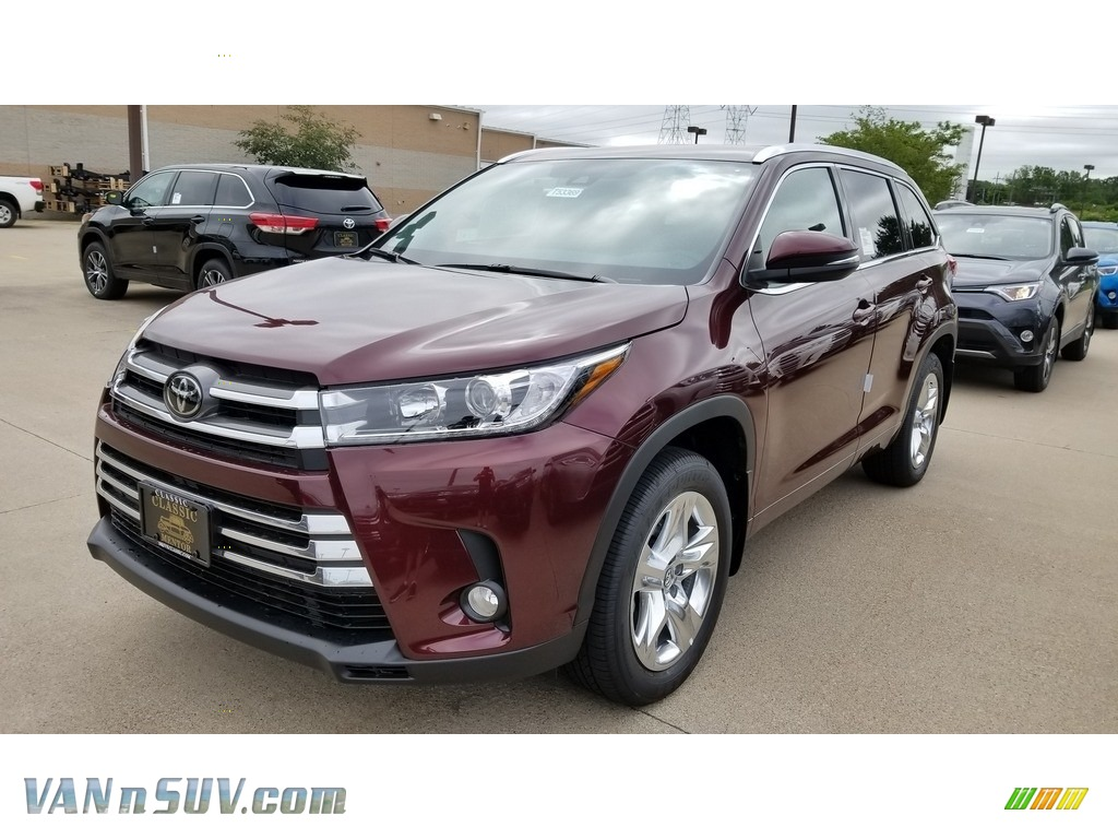 2018 Highlander Limited AWD - Ooh La La Rouge Mica / Black photo #1