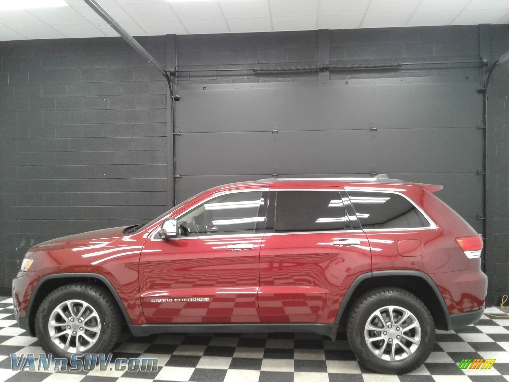2015 Grand Cherokee Limited 4x4 - Deep Cherry Red Crystal Pearl / Black/Light Frost Beige photo #1