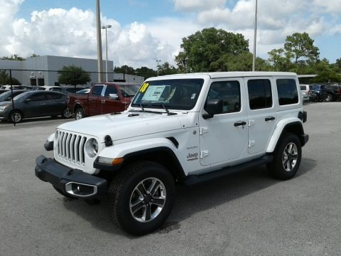 Bright White 2018 Jeep Wrangler Unlimited Sahara 4x4
