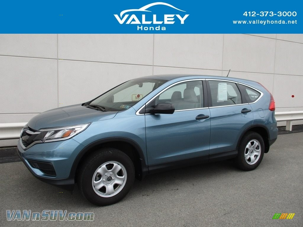 2015 CR-V LX AWD - Mountain Air Metallic / Beige photo #1