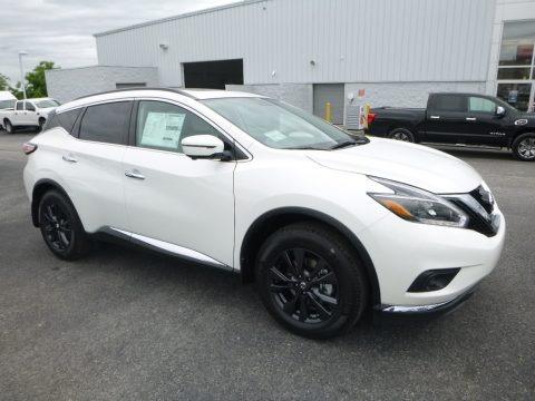 Pearl White 2018 Nissan Murano S AWD