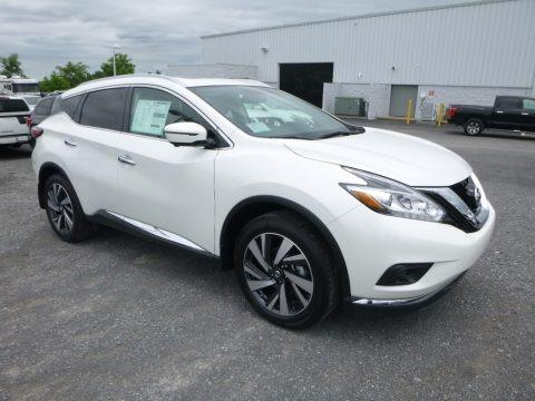 Pearl White 2018 Nissan Murano Platinum AWD