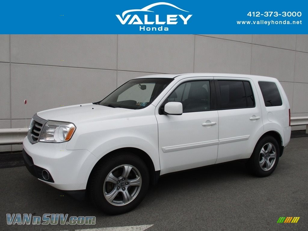 2012 Pilot EX-L 4WD - Taffeta White / Gray photo #1