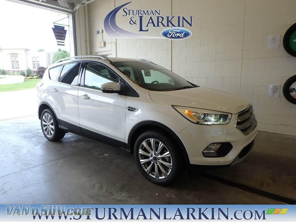 White Platinum / Charcoal Black Ford Escape Titanium 4WD
