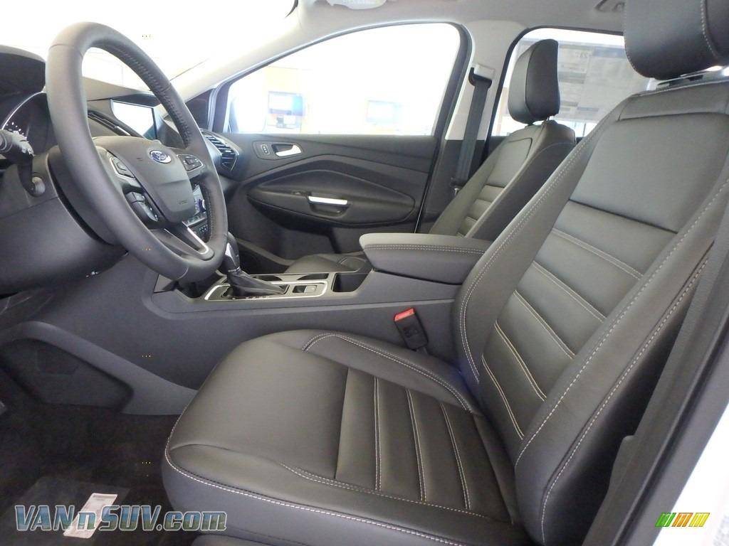 2018 Escape Titanium 4WD - White Platinum / Charcoal Black photo #6