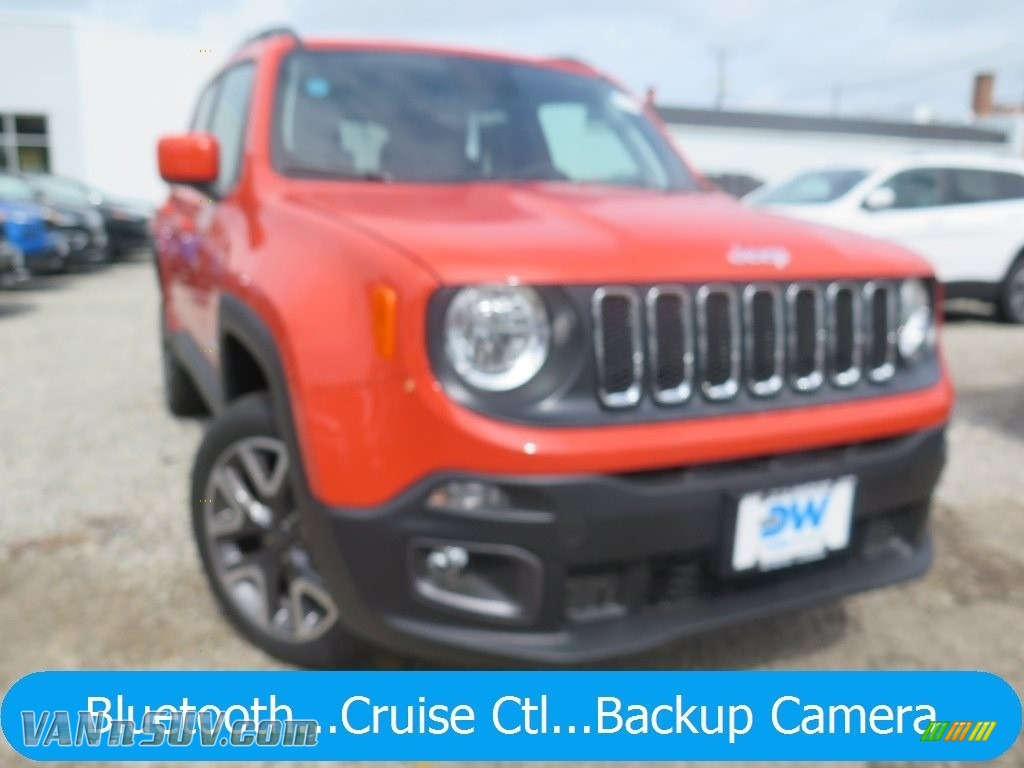 2018 Renegade Latitude 4x4 - Omaha Orange / Black photo #1