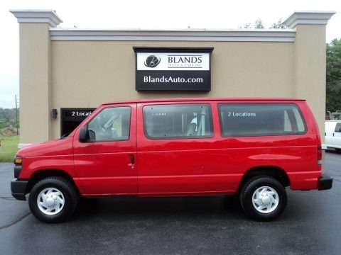 Red 2009 Ford E Series Van E250 Super Duty Commercial