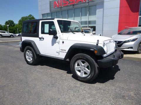 Bright White 2016 Jeep Wrangler Sport