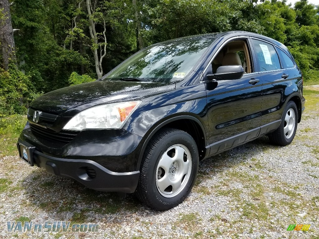 2009 CR-V LX 4WD - Crystal Black Pearl / Gray photo #1