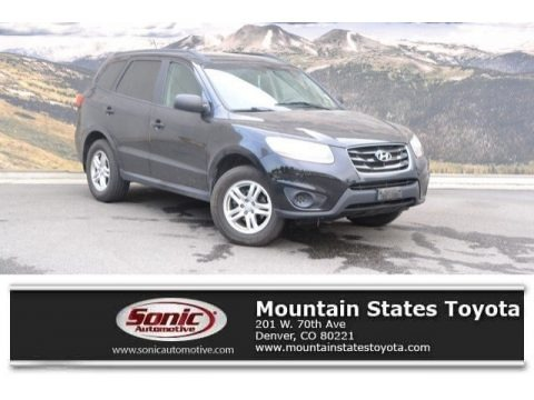 Phantom Black Metallic 2011 Hyundai Santa Fe GLS AWD