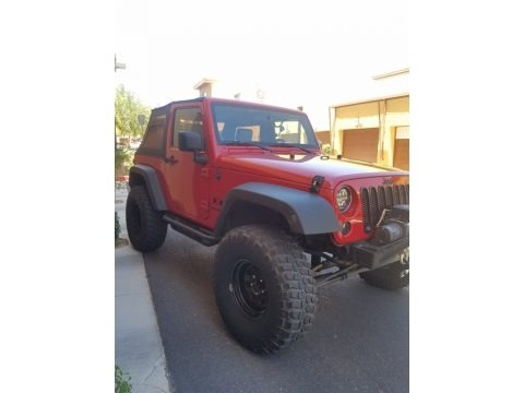 Flame Red 2009 Jeep Wrangler X 4x4