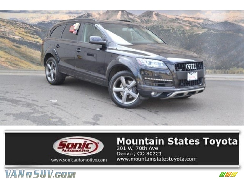 2015 Q7 3.0 TDI Premium Plus quattro - Orca Black Metallic / Black photo #1