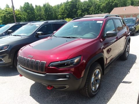 Velvet Red Pearl 2019 Jeep Cherokee Trailhawk 4x4