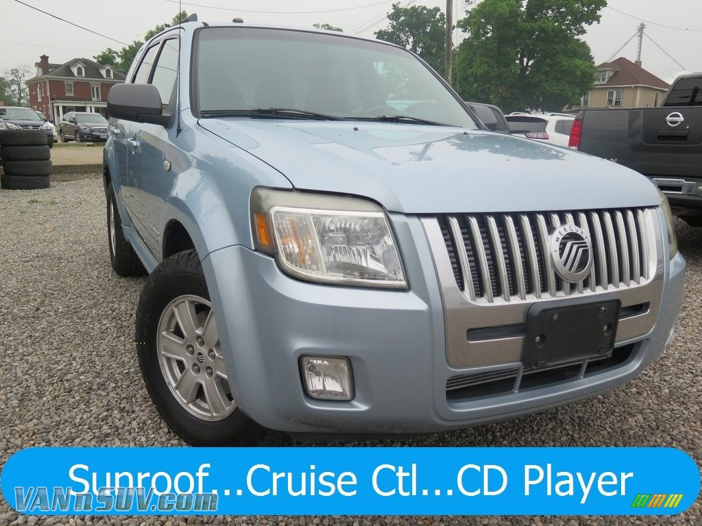 2008 Mariner V6 4WD - Light Ice Blue Metallic / Black photo #1