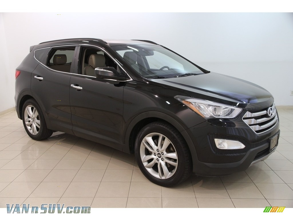2013 Santa Fe Sport 2.0T - Twilight Black / Gray photo #1