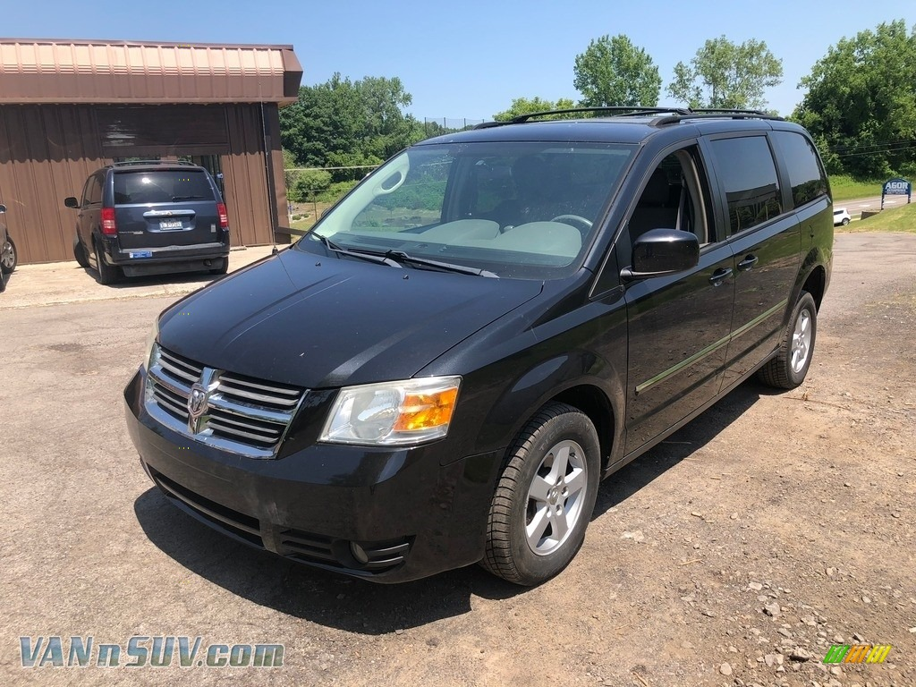 2009 Grand Caravan SXT - Brilliant Black Crystal Pearl / Dark Slate Gray/Light Shale photo #8