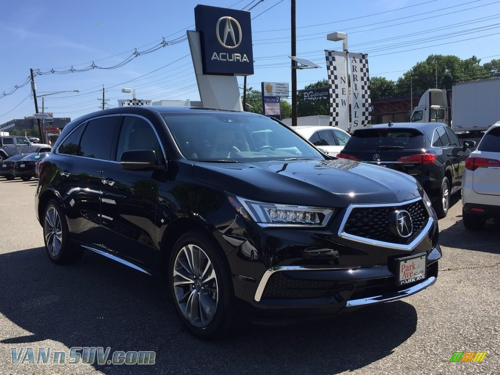 2017 MDX Technology SH-AWD - Crystal Black Pearl / Parchment photo #1
