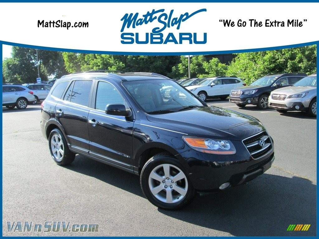 2007 Santa Fe Limited 4WD - Deepwater Blue / Gray photo #1