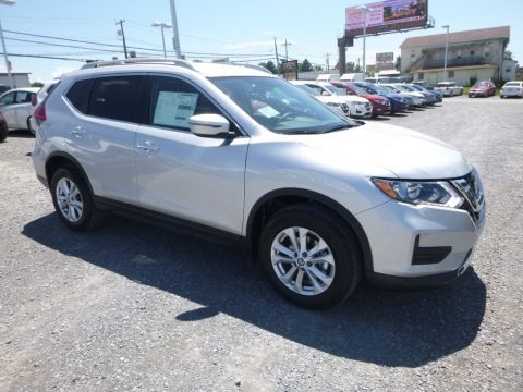 Brilliant Silver 2018 Nissan Rogue S AWD