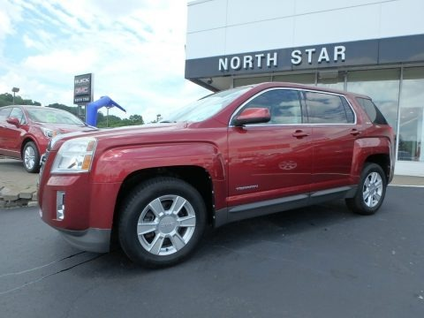 Merlot Jewel Metallic 2010 GMC Terrain SLE AWD