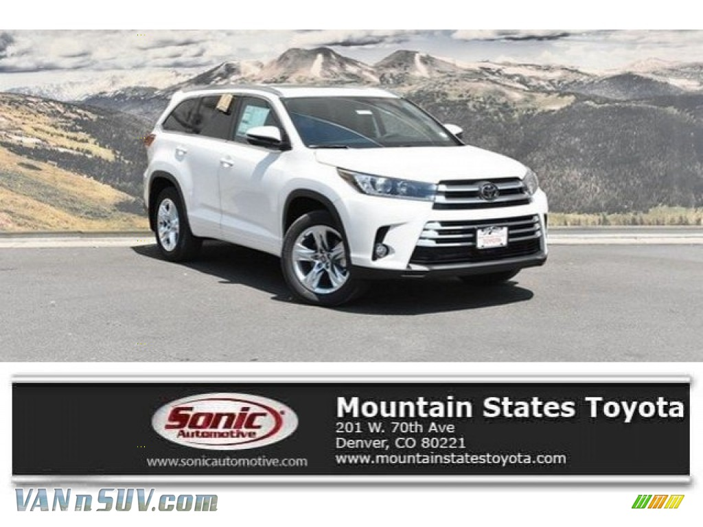 2018 Highlander Limited AWD - Blizzard White Pearl / Black photo #1