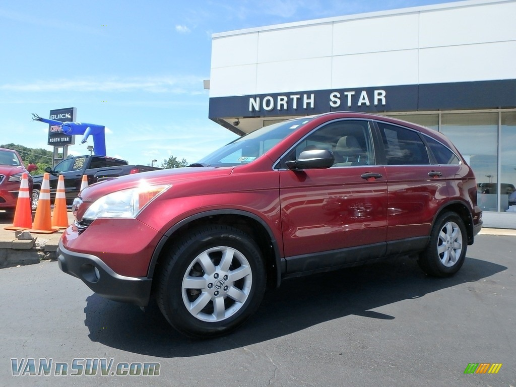 2008 CR-V EX 4WD - Tango Red Pearl / Gray photo #1