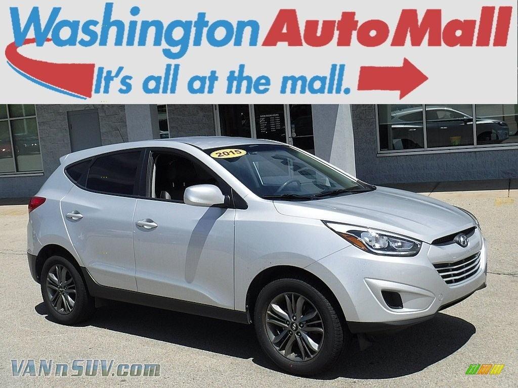 2015 Tucson GLS AWD - Diamond Silver / Black photo #1