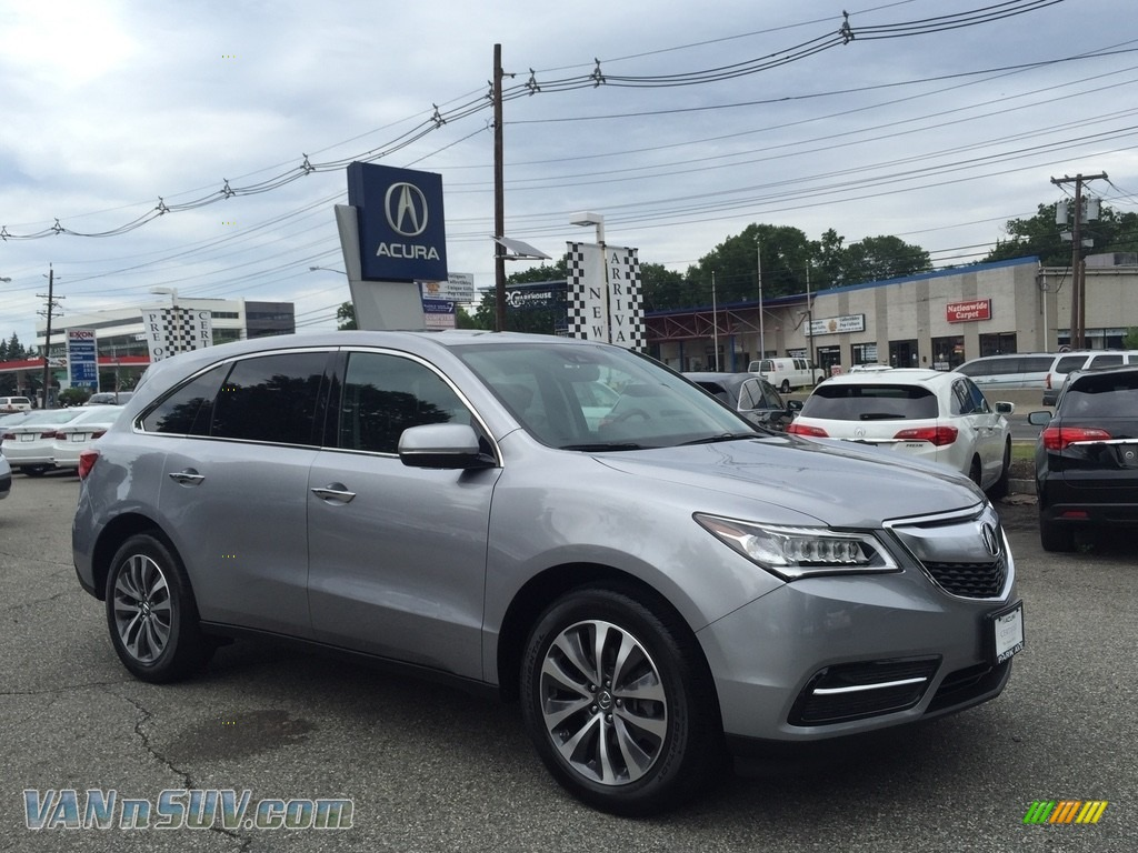 Lunar Silver Metallic / Ebony Acura MDX SH-AWD Technology