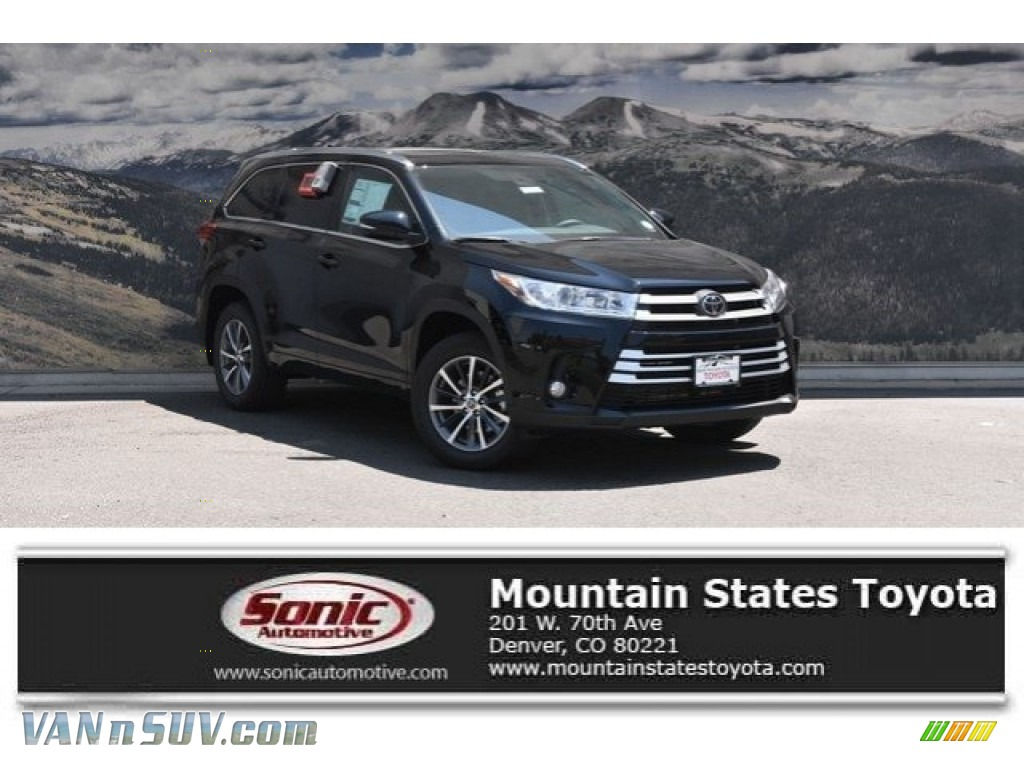2018 Highlander XLE AWD - Midnight Black Metallic / Black photo #1