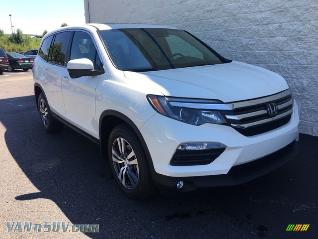 2018 Pilot EX-L AWD - White Diamond Pearl / Beige photo #1