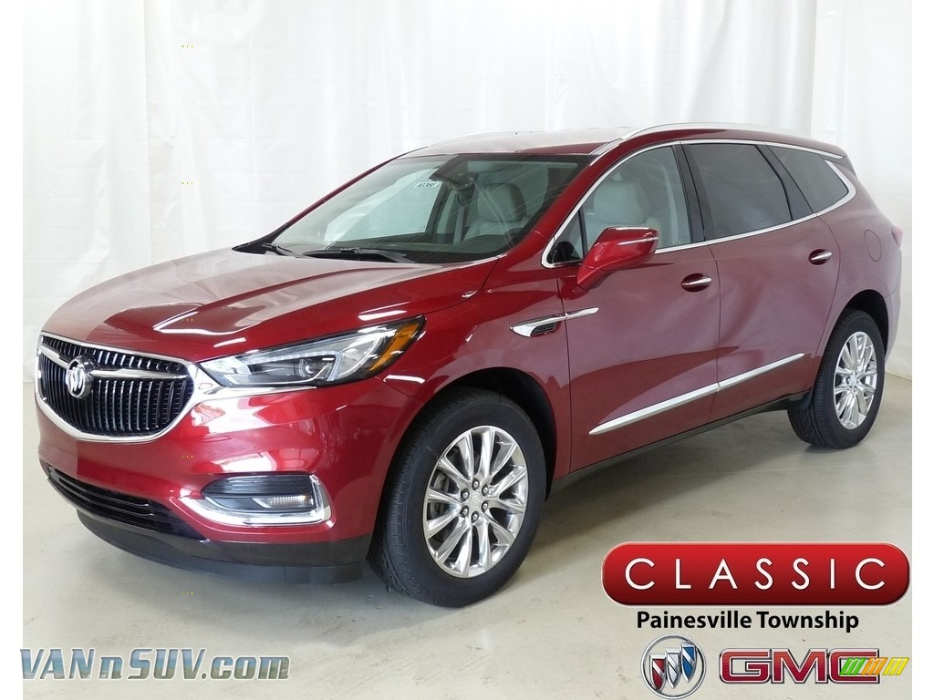 Red Quartz Tintcoat / Shale/Ebony Accents Buick Enclave Essence AWD