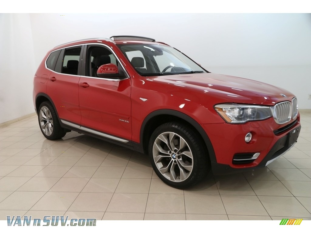 2016 X3 xDrive28i - Melbourne Red Metallic / Black photo #1